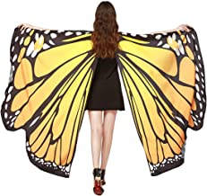 FEOYA Women Girls Butterfly Shawl Wings Halloween Christmas Party Dancing Costume Cape