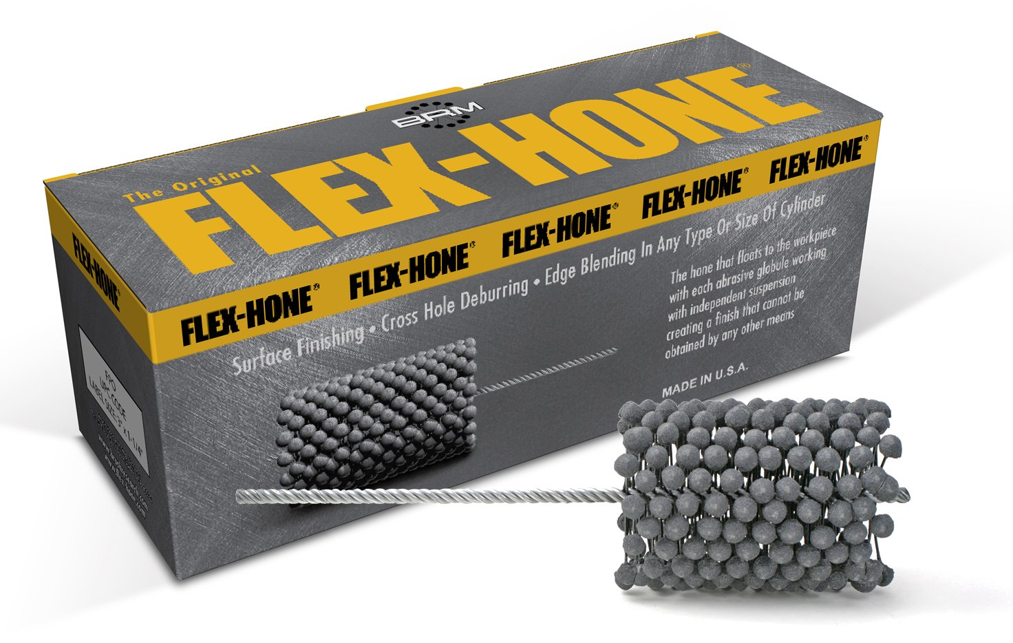 240 Grit Size Silicon Carbide Abrasive Brush Research FLEX-HONE Cylinder Hone 4.5 mm Diameter BC Series .177