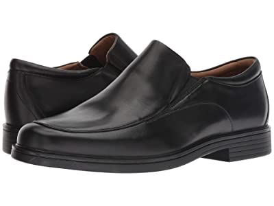 Clarks Un Aldric Walk (Black Leather) Men