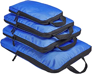Compression Packing Cubes, 4 Set Travel Luggage Packing Organizers, Expandable Storage Packing Cubes