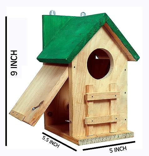 PAXI DAYA Side Window Big Wooden Bird House / House for Birds / Birds Home / Nest Box