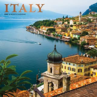 Italy 2020 12 x 12 Inch Monthly Square Wall Calendar with Foil Stamped Cover, Scenic Travel Europe Italian Venice Rome