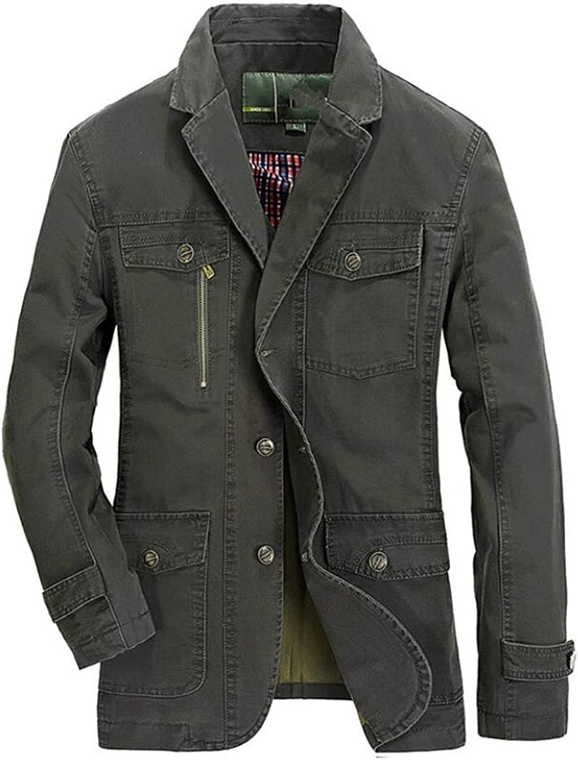 All stores are sold Spring specialty shop Autumn Military Blazer Jacket Washed Coats Arm Casual Men