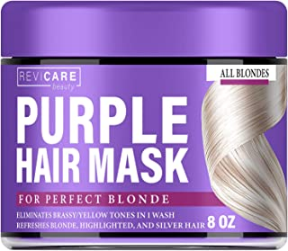 Purple Hair Mask – Hair Toner w/Avocado Oil, Retinol & Silk Protein for Blonde..
