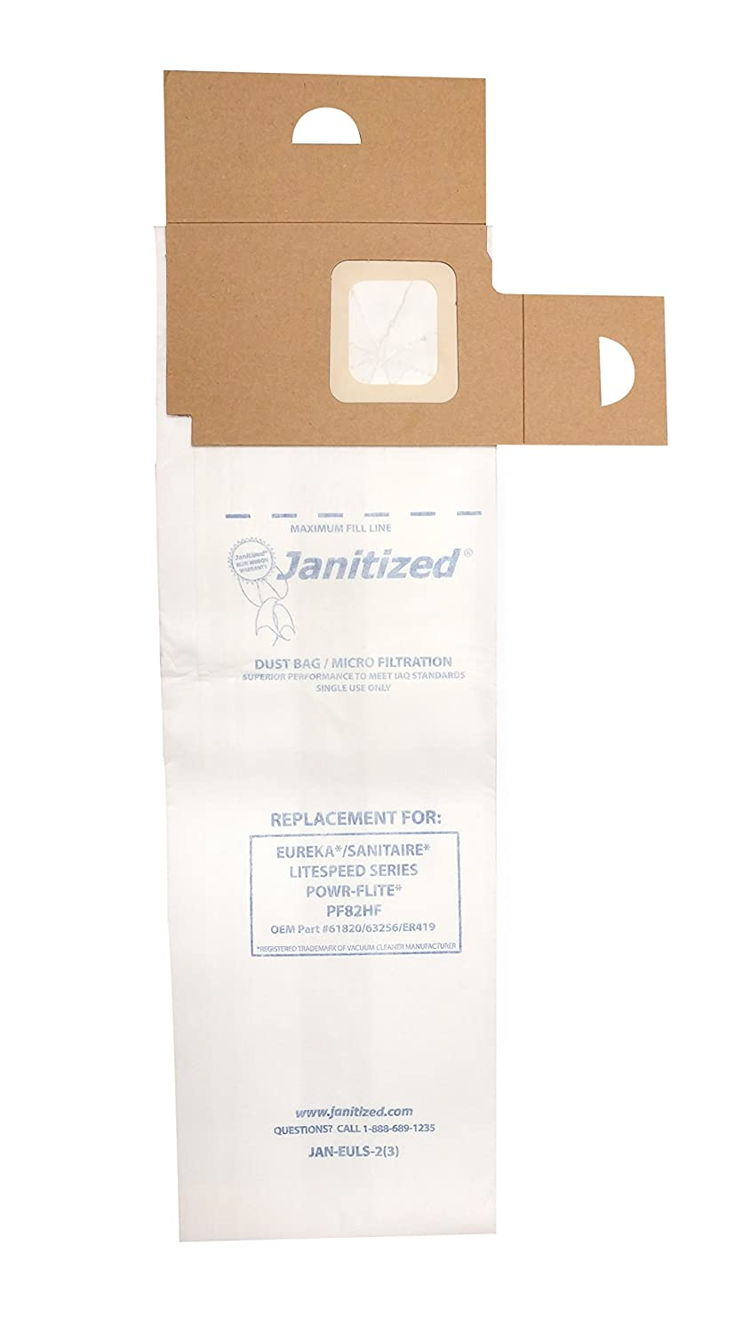 Max 52% OFF Janitized JAN-EULS-2 3 Super sale Paper Vac Commercial Replacement Premium