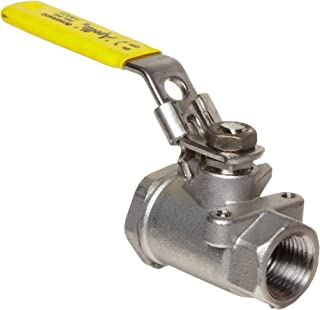 Apollo 76-100 Series Stainless Steel Ball Valve, Two Piece, Inline, Latch-Lock Lever with Nut, 1