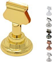 Gray Bunny GB-6810B Place Card Holder, 12 Pack, Gold, Table Cardholder Tabletop Menu Holder Harp-Clip Number Holder Recipe Holder Reserved Card Holder, for Restaurants, Weddings, Banquets