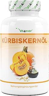 Pompoenzaadolie - 420 capsules - 3000 mg per dagelijkse portie - Met natuurlijke vitamine E - Hooggedoseerd - Natuurlijk &...