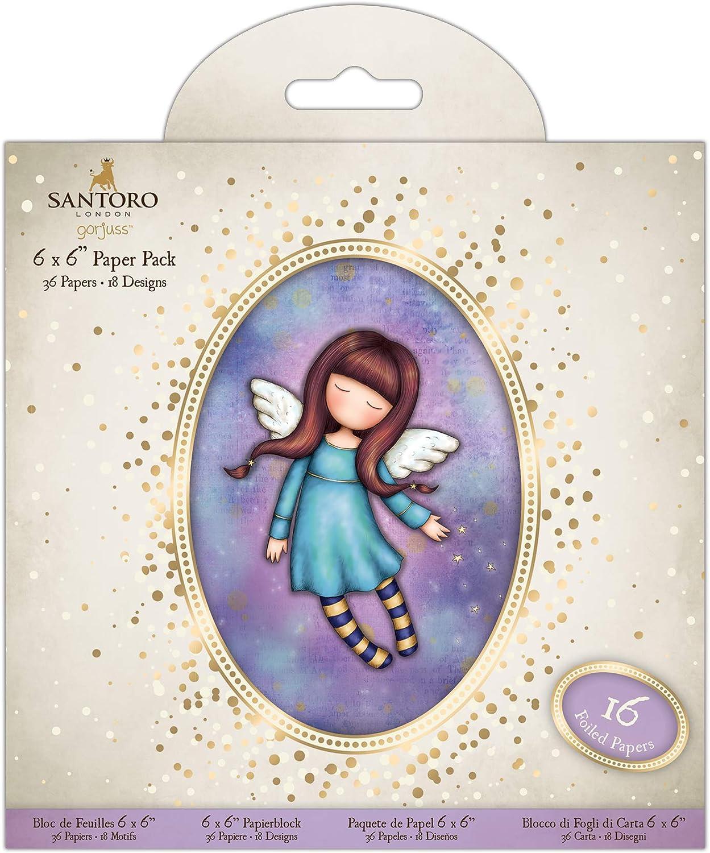 """Santoro Gorjuss Girl Docraft 6x6/"""" Cards /& Envelopes 12pk Printed Square"""