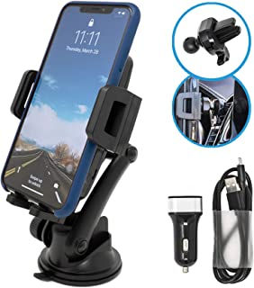 Opentron Wireless Car Charger Car Mount Air Vent Phone Holder, Fast Charging, QI Certified, 5W/7.5W/10W for iPhone Xs/Xs Max/XR/X/ 8/8 Plus, Samsung Galaxy S10 /S10+/S9 /S9+/S8 /S8+