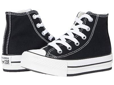 Converse Kids Chuck Taylor(r) All Star(r) Eva Lift Hi (Little Kid/Big Kid) (Black/White/Black) Kid