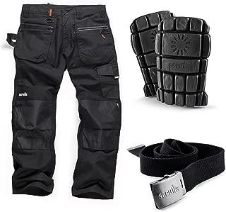 32W 32L Black Scruffs T519733D TradeLong Trousers Manufcature Size:46