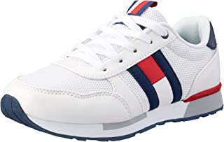 TOMMY HILFIGER Off White Lace-Up Sneaker Boys Off White Lace-Up Sneaker, Off White/Blue