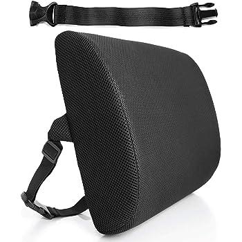 HelpAccess Cuscino Multifunzionale in Memory Foam, Sostegno ergonomico per Zona Lombare, Regolabile per Sedia Ufficio, Divano, Sedile Auto ECC.