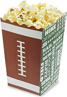 Juvale 50-Pack 5.5 Inch Tall Mini Football Theme Paper Popcorn Party Favor Boxes for Treats, Candy