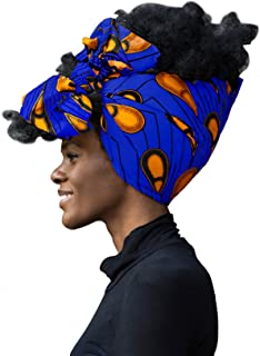 African Head Wrap Extra Long 72�x22�Wax Print Head Scarf Tie for Women