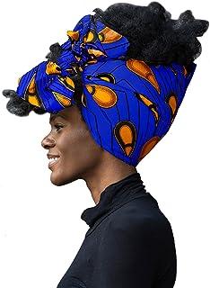 "African Head Wrap Extra Long 72""x22""Wax Print Head Scarf Tie for Women"
