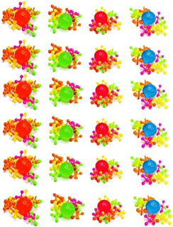 Kicko Plastic Jacks Set Jacks Game - Assorted Neon Colors - Pack of 16-10 Jacks and 1 Ball Per Pack, Jacks and Balls are 1 Inch, Classic Game Set - for Kids, Party Favors, Fun, Toy,