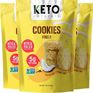 Coconut Macaroon Cookies with MCTs - Keto Cookies Vanilla Smart Sweets, Low Carb Keto Snack Bites, Paleo Atkins diet frien...