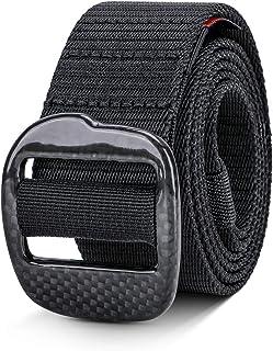 "Carbon Fiber Nylon Webbing Waist Belt Metal Free Belt ylon Belt Outdoor Web Belt 1.5"" Men WCarbon Fiberebbing Belt- Weight..."