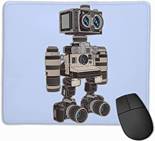 "Camera Bot Gaming Mouse Pad Non-Slip Rubber Mouse Mat for Computers Desktops Laptop 9.8"" x 11.8"""