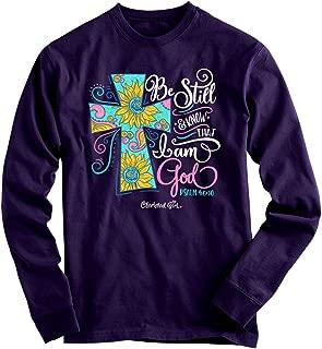 Women's Be Still Cross T-Shirt - Purple -