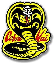 massimmond Vinyl Stickers Cobra Kai Logo Karate Kid Movie Decal Phone Laptop Car Window Art (10 inch)