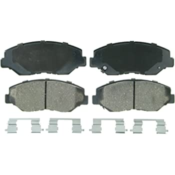 Wagner QuickStop ZD914 Ceramic Disc Pad Set Includes Pad Installation Hardware, Front