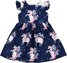 Wang Xiang Toddler Baby Girls Tunic Dress Swing Casual Sundress Princess Dress
