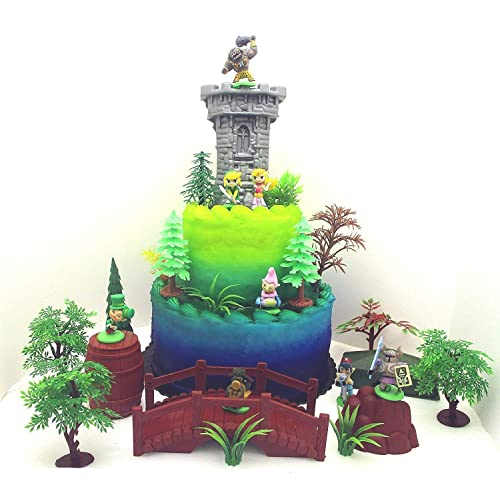 Zelda 25 Piece Deluxe Birthday Cake Topper Set Featuring Random Character Figures And Decorative Themed