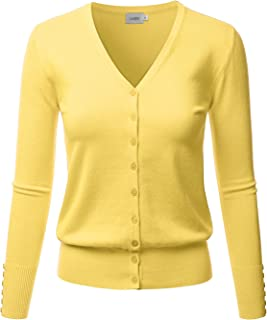 6bb8d8a600d LALABEE Women s V-Neck Long Sleeve Button Down Sweater Cardigan Soft Knit