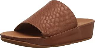 FitFlop Womens N65 Ginny Snake-Embossed