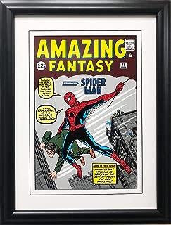 Gallerygems Marvel The Amazing Fantasy Introducing Spider-Man! #1 Framed Comic Poster 16.5