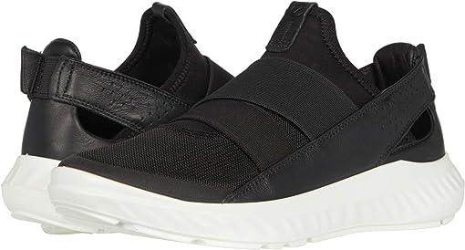 Black/Black/Black Textile/Textile/Cow Leather