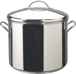Farberware Classic Series Stainless Steel 12-Quart Covered Stockpot, Silver - 50008