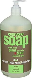 EO Products Natural Everyone Hand Soap Liquid, Mint and Coconut, 32 Ounce