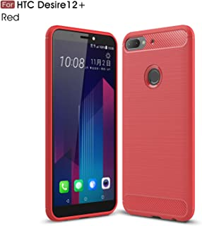 HTC Desire 12 Plus Case,TenYll TPU Soft Cover Case [Ultra Silm] [shockproof] [Durable] Silicone Cover for HTC Desire 12 Plus -Red