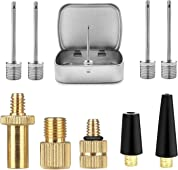 SZSHIMAO Fietsventieladapter, adapter voor alle AV-/DV-/SV-ventielen, opblaasventielen, set voor alle fietspompen, luchtpompen, naalden voor bal-, basketbal en voetbalpompen