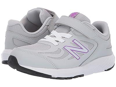 New Balance Kids 519v1 (Little Kid/Big Kid) (Light Aluminum/Voltage Violet) Girls Shoes