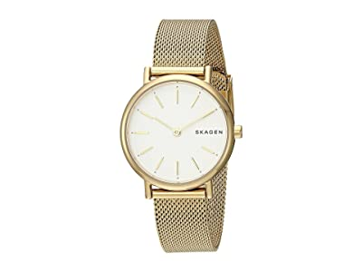 Skagen Signatur Slim Two-Hand Watch (SKW2693 Gold Stainless Steel Mesh) Watches