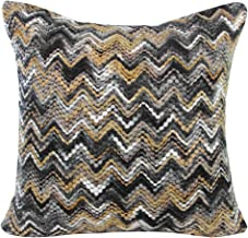 MHJY Knit Pillow Cover,Knitted Wave Pattern Throw Pillow Cushion Covers Bohemian Style Decorative Pillow Case for Home,Bed,Room,Couch,Car Decor Square Pillowcase(18x 18)