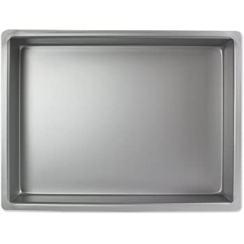 "PME 9x12x3"" OBLONG RECTANGLE Anodised Aluminium Cake Baking Pan Tin Bakeware"