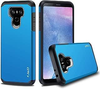 J&D Case Compatible for LG G6 / LG G6 Plus Case, Heavy Duty [Dual Layer] Hybrid Shock Proof Protective Rugged Bumper Case for LG G6 Plus, LG G6 Case - Blue