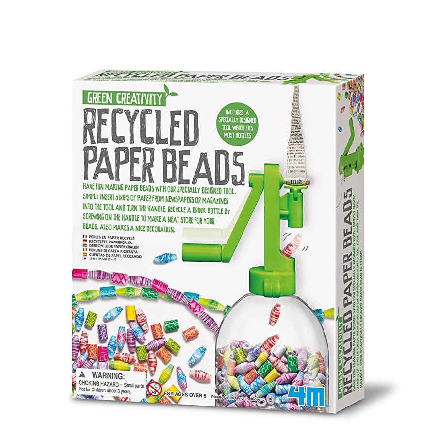 The Sales Partnership 4M Green Creativity Recycled Paper Beads
