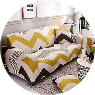 1PC Elastic Sofa Tight Wrap All-Inclusive Slip-Resistant Sofa Cover Elastic Sofa Towel Single/Two/Three/Four-Seater,Color 23,4-Seater 235-300cm