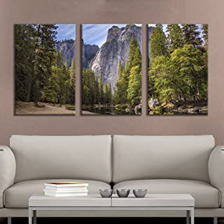 wall26 – 3 Panel Canvas Wall Art – Majestic Natural Landscape Triptych Canvas..