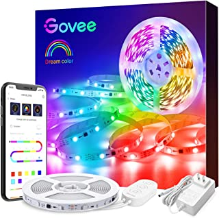 LED Strip Lights, Govee Multicolor 16.4ft APP Control Bluetooth LED Light Strip, Color Picking and Segmented Control Music Sync Color Changing LED Lights for Room, Kitchen, Party, Christmas