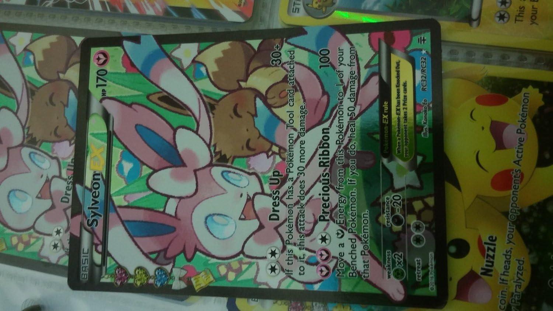 GENERATIONS RC21//RC32 Sylveon EX Pokemon Trading Card