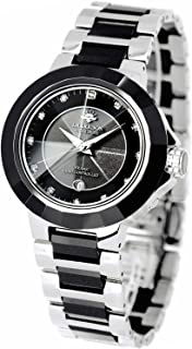 [ジョン・ハリソン]J.harrison 腕時計電波ソーラー1石天然ダイヤモンド付セラミック JH-028SB メンズ 【正規輸入品】