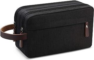 Men's Travel Toiletry Organizer Bag Waterproof Shaving Dopp Kit Bathroom Bag (Black Waterproof)